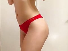 Slutty Nurse Striptease And Demonstrating Her Thong