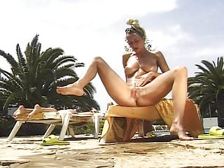 Sexy busty kinky legend pissing amp masturbating outdoor...