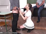 21Sextury Swallowing Schoolgirl DP After Class