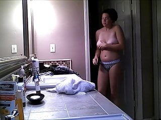 Tits Voyeur Big Ass video: Caught changing for pool