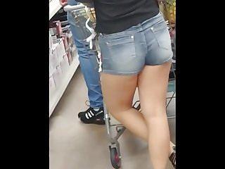 Hot latin girl in shorts