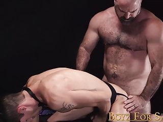 Submissive jock sold to be dominated by muscle daddy