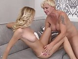 Sensual lesbian sex with mom and daughter Aislin