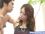 Doggystyle banged oriental milf gets screwed