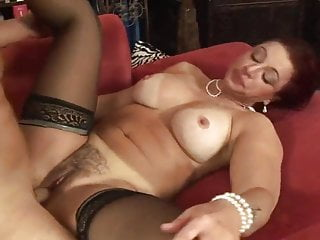 Sexy redhead with big tits fucks...