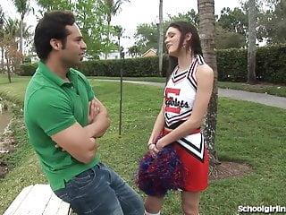 Slutty cheerleader gets one...