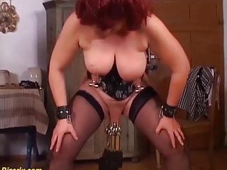 German mom enjoys a extreme pussy torture...