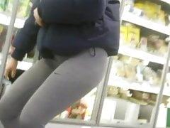 Athletic Girl, Hottest Ass in Gray Leggings