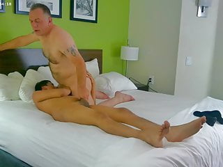 daddy undresses Twink bf and gets hot blow job