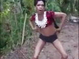 Crossdresser dancing...