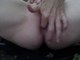 Fingering ass close up with pussy play
