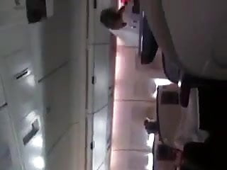 Girl masturbating in a plane