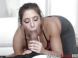 White girl Abella Danger bounces on black pike like a pro