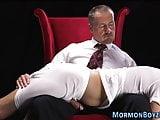 Uniformed mormon gets cum
