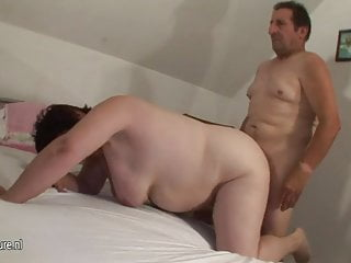 Big mature slut sucking and fucking