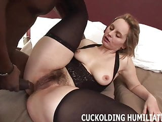 You are going to watch me riding his big black cock