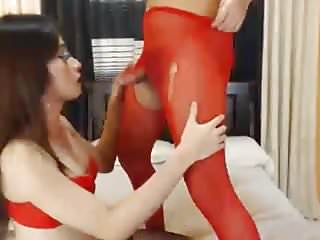 Shemales jerking off sexily...