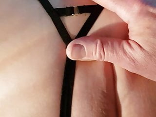 Wife gets fucked again wearing sexy thong and bra
