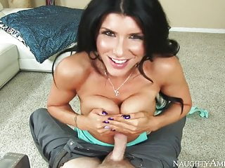Naughty America Shaved Romi Rain fucking in the ottoman with