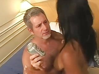 Horny old man fucks a gorgeous...