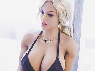 Sex doll with huge tits for a doggystyle...