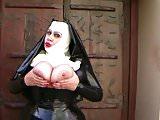 Busty Latex Nun