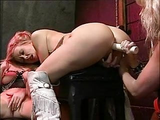 British slut Sarah D in a lesbian threeome