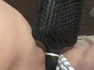 Amateur Teen Girl Comb Masturbation