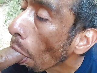Homeless Man Sucking My Uncut Cock