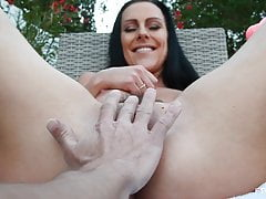 Big titty German MILF Texas Patti masturbating on FTV