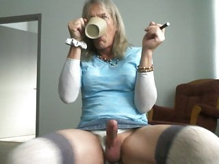 Tranny Morning Coffee, Piss, and Cum