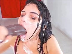 Cam Girls - Cute latina sloppy gagging