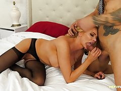 Blowing hubby's dick in the hotel is awesome
