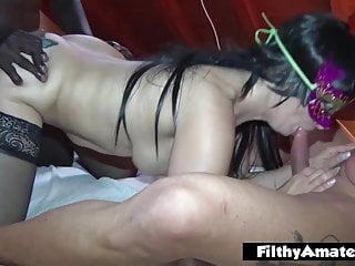 With black cock fucking...