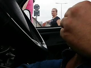 flashing in the car ( caught jerking ) 1