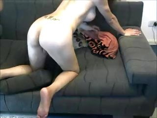Getting drilled by her male lover on cam...
