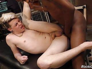 White emo guy gets nailed by a black...