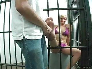 The blondie jail footjob