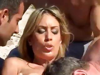 Virgin girl gangbanged hard beach...