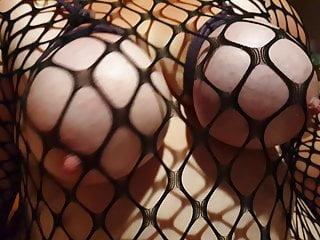 Curvy Charlotte BBW Body Stocking Tied Tits Rope swinging