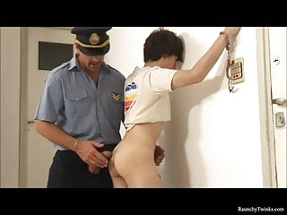 Naughty boy arrested and fucked police...