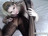 Christie Stevens and Claudia Valentine Nylons and Strap On