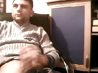 Sexy big dicked turkish man guy stroking