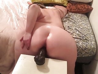 SSBBW and her big black Dildo