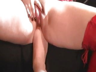 Pumped Pussy Hitachi Wand Orgasm with Foot in Ass!