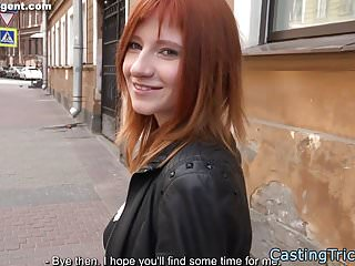 Redhead beginner fuck at faux casting