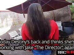 Young Latina Destiny Cruz Dark Dicked By Her 1st Big Black Cock!