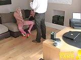 MisterFake Amateur petite blonde girl empties agents balls