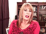 Sexy mature blonde Rae Hart in office