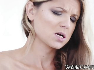 Teen petite ass fucked slowly and fed with jizz by her lover